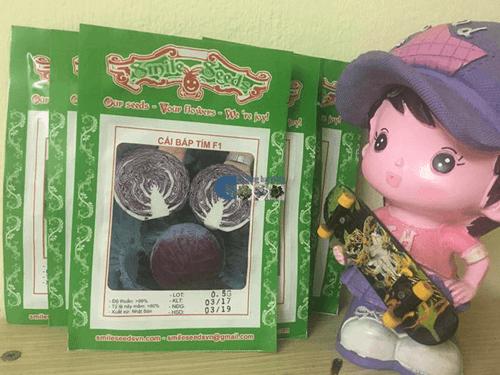 Vỏ gói hạt giống hoa bắp cải tím