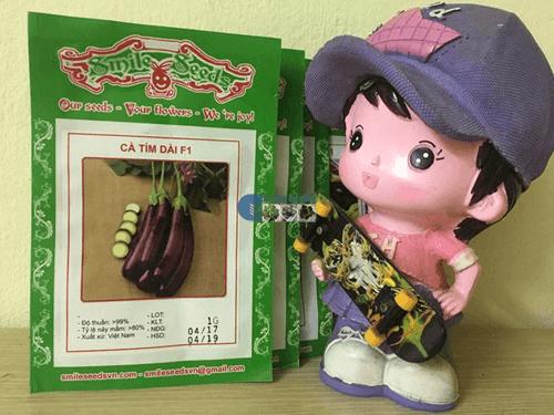 Túi hạt giống cà tím dài - cà tím dái dê - Cửa hàng hạt giống Mỹ Đình