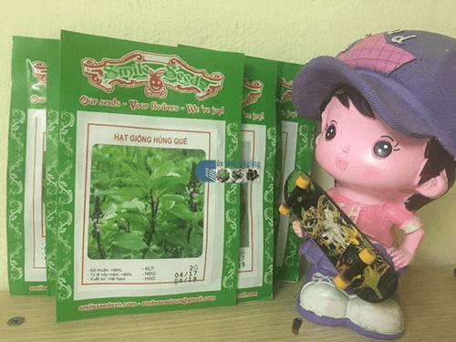Bao bì gói hạt giống cây rau húng quế - Cửa hàng hạt giống Mỹ Đình