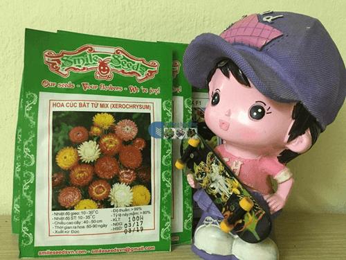 Bao bì túi hạt giống hoa cúc bất tử mix - Cửa hàng hạt giống Mỹ Đình