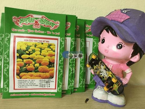 Gói hạt giống hoa cúc vạn thọ Mỹ - Cửa hàng hạt giống Mỹ Đình
