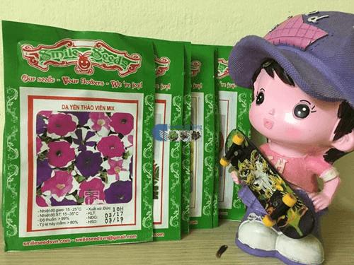 Bao bì gói hạt giống dạ yến thảo viền mix - Cửa hàng hạt giống Mỹ Đình