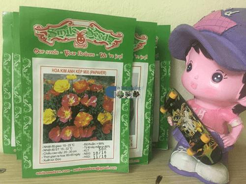 Bao bì gói hạt giống hoa kim anh kép mix - Cửa hàng hạt giống Mỹ Đình