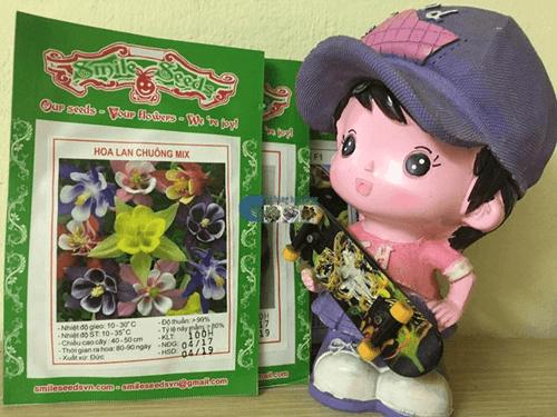 Bao bì gói hạt giống hoa lan chuông bồ câu