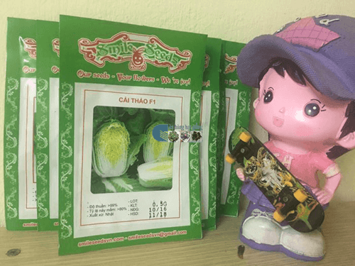 Bao bì gói hạt giống cải thảo