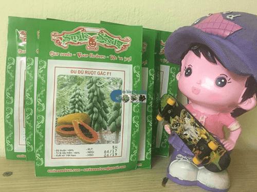 Bao bì gói hạt giống đu đủ ruột đỏ - Cửa hàng hạt giống Mỹ Đình