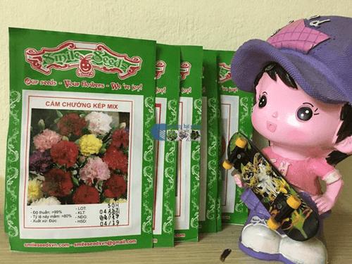 Vỏ gói hạt giống cẩm chướng kép mix - Cửa hàng hạt giống Mỹ Đình