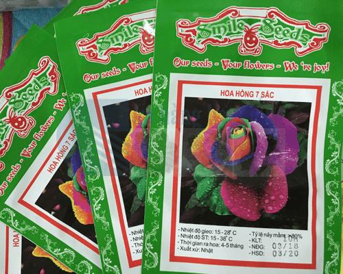 Vỏ gói hạt giống hoa hồng 7 màu Cửa hàng hạt giống
